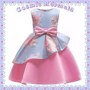 Other - 🆕💖Pastel Pink & Blue Princess Floral Bow Dress💖